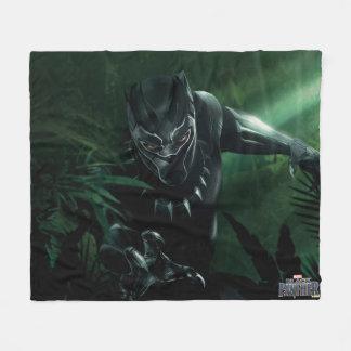 Couverture Polaire Panthère noire | dans la jungle