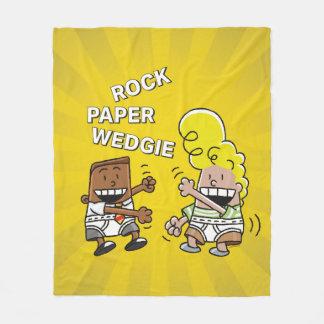 Couverture Polaire Papier Wedgie de roche de capitaine Underpants |
