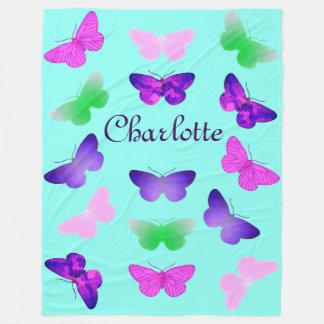 Couverture Polaire Papillon personnalisable
