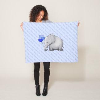 Couverture Polaire Partout crèche mignonne nommée d'éléphant de bébé