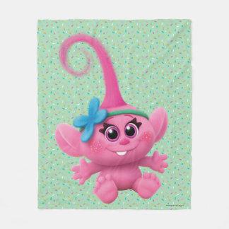 Couverture Polaire Pavot de bébé des trolls |