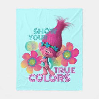Couverture Polaire Pavot des trolls | - montrez vos couleurs vraies