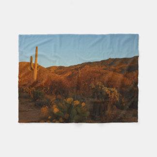 Couverture Polaire Paysage de désert du coucher du soleil I Arizona
