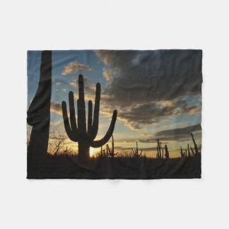Couverture Polaire Paysage de désert du coucher du soleil II Arizona