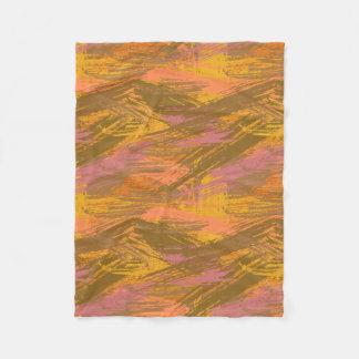Couverture Polaire Peignez les tonalités d'automne de courses