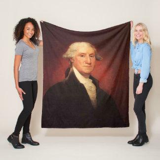 Couverture Polaire Peinture vintage de portrait de George Washington