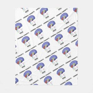 Couverture Polaire Pensées cérébrales à l'intérieur d'humour réfléchi