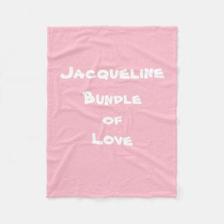 """Couverture Polaire Personnalisez """"paquet de Jacqueline les"""