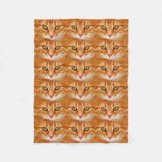 Couverture Polaire Petit 30 pouces X chat de tigre orange de 40