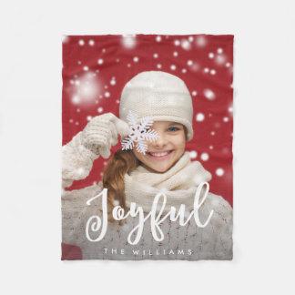 Couverture Polaire Photo moderne de vacances de Noël | de manuscrit