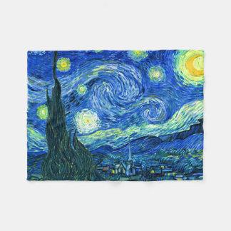 Couverture Polaire PixDezines Van Gogh/nuit étoilée