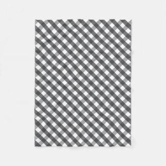 Couverture Polaire Plaid noir et blanc