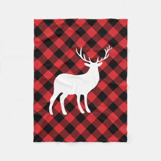 Couverture Polaire Plaid rouge et vacances blanches du mâle |