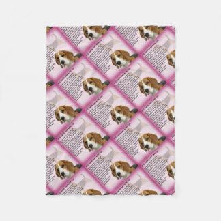 Couverture Polaire Poème de cousin de conception de beagle