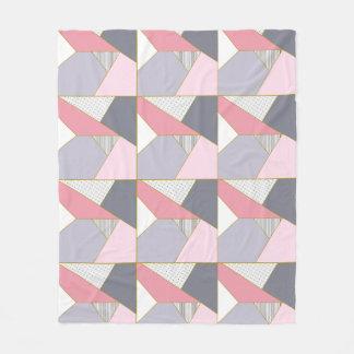 Couverture Polaire Pois géométrique élégant de rayures en pastel