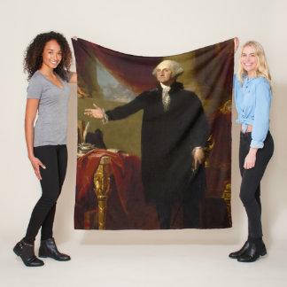 Couverture Polaire Portrait vintage de George Washington peignant 2