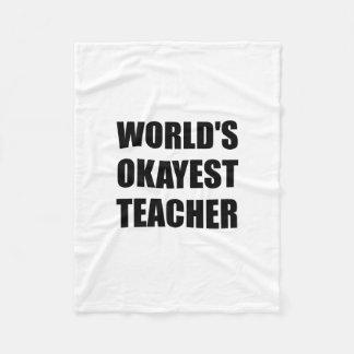 Couverture Polaire Professeur d'Okayest des mondes