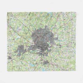 Couverture Polaire Raleigh la Caroline du Nord Map (1990)