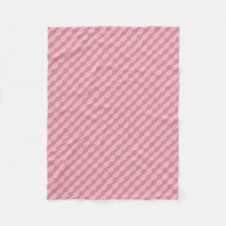 Couverture Polaire Rayures roses de pétale