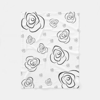 Couverture Polaire Roses