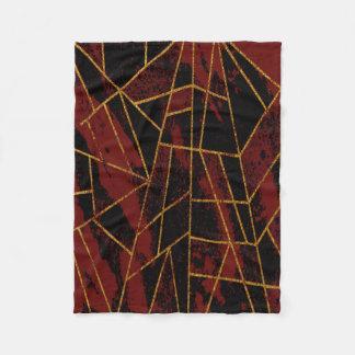 Couverture Polaire Rouge #940 abstrait