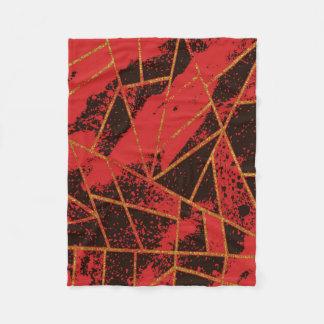 Couverture Polaire Rouge #942 abstrait