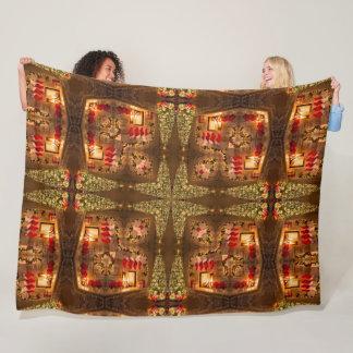 Couverture Polaire Satin magique de motif de mandala de vacances de