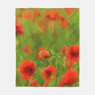 Couverture Polaire Sentiments d'été - le pavot merveilleux fleurit II
