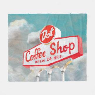 Couverture Polaire Signe américain de café-restaurant du bord de la