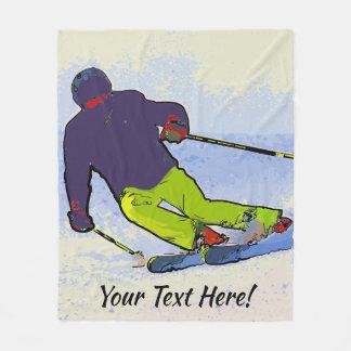 Couverture Polaire Silhouette de skieur