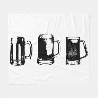 Couverture Polaire Silhouette noire //de tasse de bière