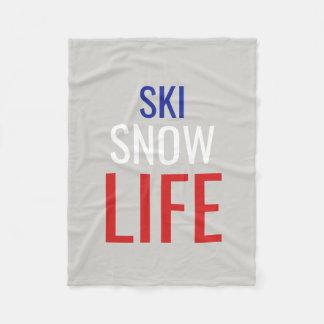Couverture Polaire Ski, neige, la vie