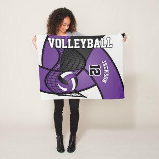 Couverture Polaire Sport de volleyball dans pourpre, le blanc et le