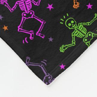Couverture Polaire Squelettes de danse de Halloween