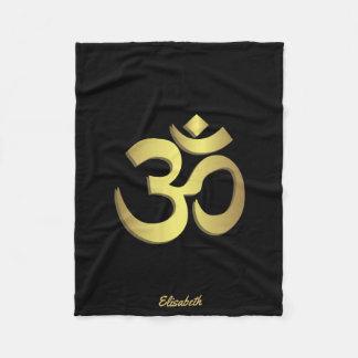 Couverture Polaire Symbole de yoga de l'OM (Aum) Namaste