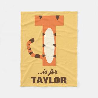 Couverture Polaire T est pour Tigger   ajoutent votre nom