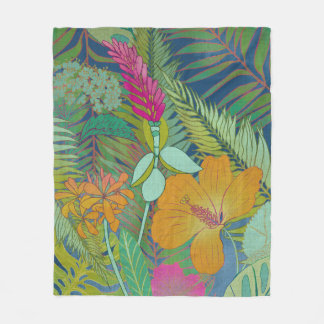 Couverture Polaire Tapisserie tropicale II
