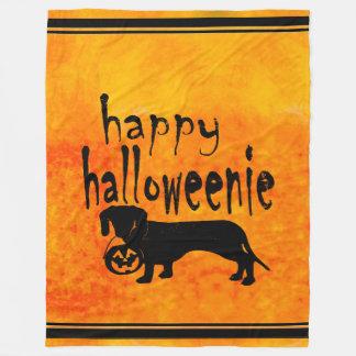 Couverture Polaire Teckel Halloween Halloweenie couvrant