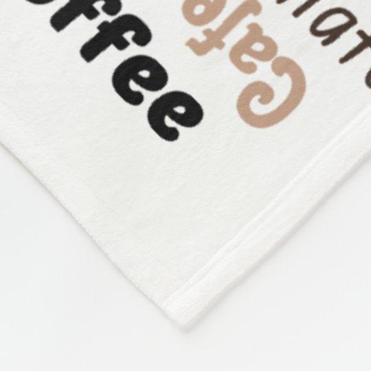 Couverture polaire Texte Coffee