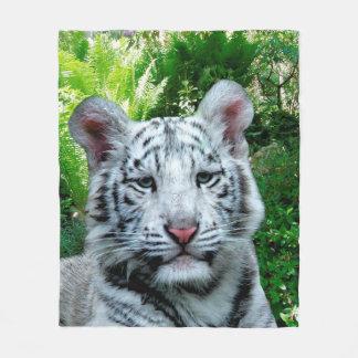 Couverture Polaire Tigre blanc