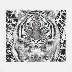 Couvertures polaires tigre blanc tigre blanc couvertures - Tigre polaire ...