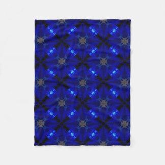Couverture Polaire Tuiles bleues voyantes
