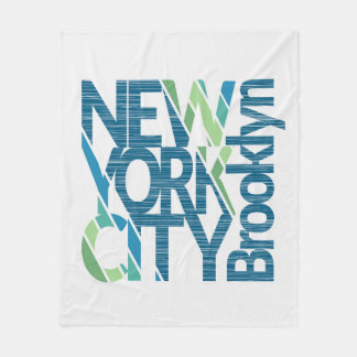 Couverture Polaire Typographie de Brooklyn New York