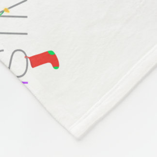 Couverture Polaire Typographie de Joyeux Noël