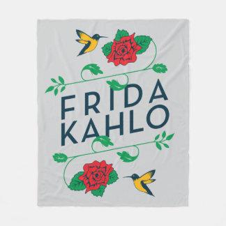 Couverture Polaire Typographie florale de Frida Kahlo |