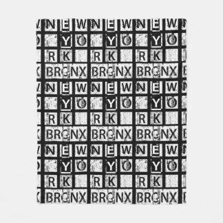 Couverture Polaire Typographie grunge de Bronx New York |