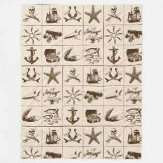 Couverture Polaire Une vie Blanket_1 de pirates