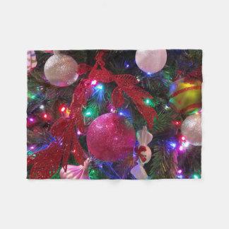 Couverture Polaire Vacances colorées multicolores d'arbre de Noël