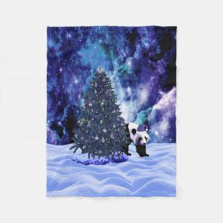 Couverture Polaire Vacances de Noël du panda à l'ouatine de Pôle Nord