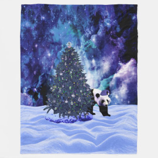 Couverture Polaire Vacances de Noël du panda au Pôle Nord
